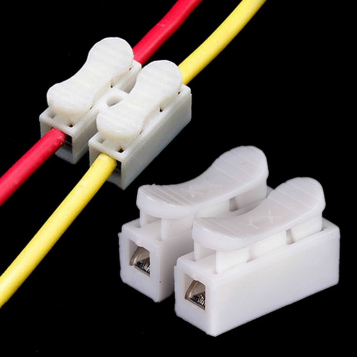 30pcs/lot 2 Pin Electrical Cable Connectors CH2 Quick Splice Lock Wire Terminals 2pin white. Yesterday's price: US $2.30 (1.87 EUR). Today's price: US $1.36 (1.10 EUR). Discount: 41%.