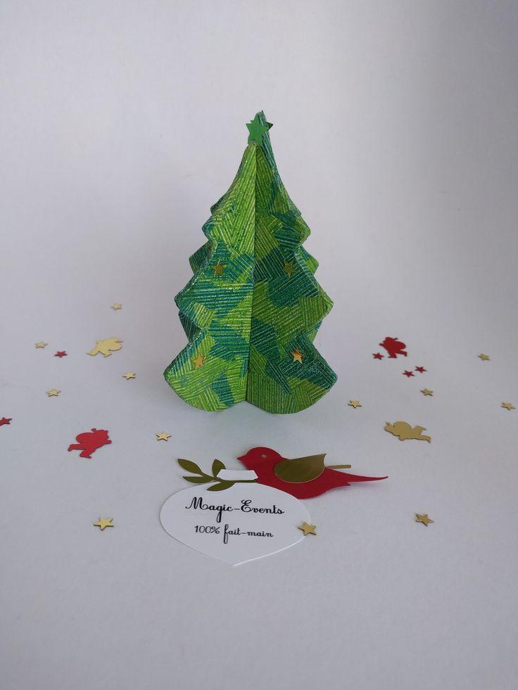 Décoration de Noël 10 sapins en cartonnage : Accessoires de maison par magic-events