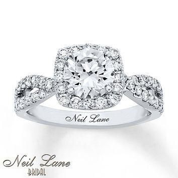Neil Lane Engagement Ring 2 1/5 ct tw Diamonds 14K White Gold