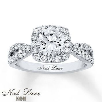 Neil Lane Engagement Ring 2 1/5 ct tw Diamonds 14K White Gold