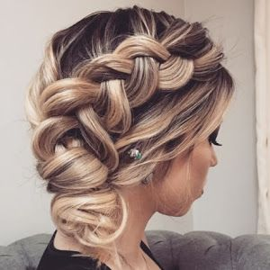 penteado de festa coque, rabo de cavlo (ponytail), penteado de festa solto, penteado de festa semi preso