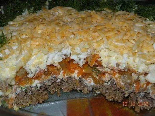 Салат с куриной печенью.  | Кулинарные Рецепты