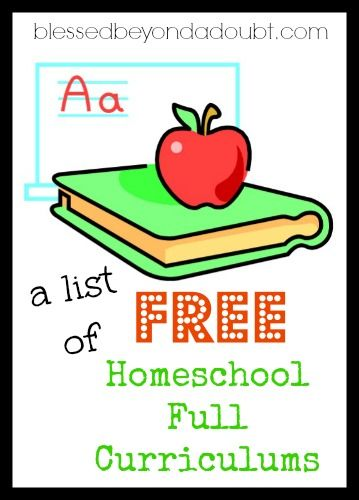 A list of all the FREE Full Homeschool curriculums available. Is your favorite on the list?