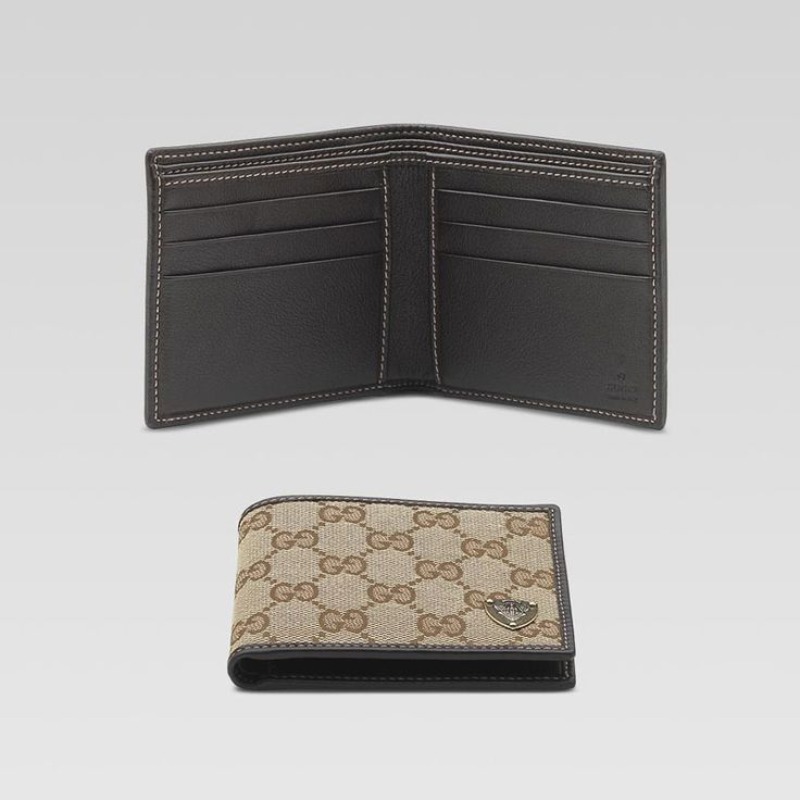 bi-fold wallet with metal gucci crest detail GMWSS1515