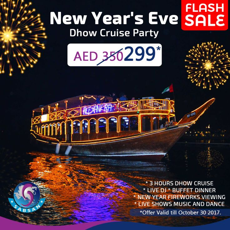 New Year's Eve Cruise Party Dubai 2018  AED350