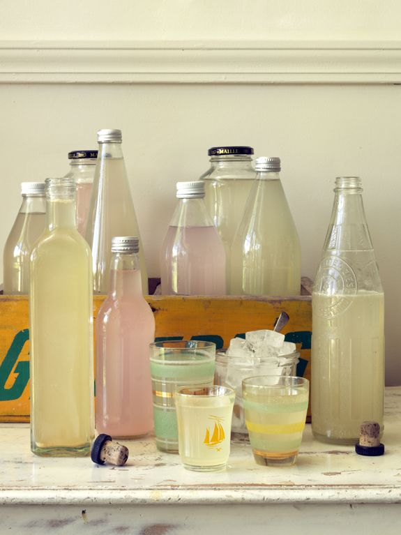 Summer drinks: home made rhubarb fizz and ginger beer recipes Photo Jane Usher