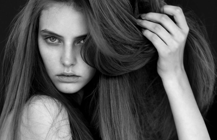 black and white and straight hair
