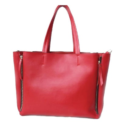 Grace Cuero legítimo color rojo