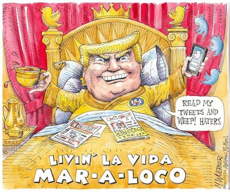 @Regrann from @politico: The latest from Matt Wuerker.  #trump #donaldtrump #potus #maralago #twitter #florida #politics #gop #republican