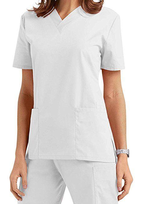 Damen Uniformen Schlupfkasack Gute Qualität V-Neck Top [ 20 Farben ] …: Amazon.de: Bekleidung