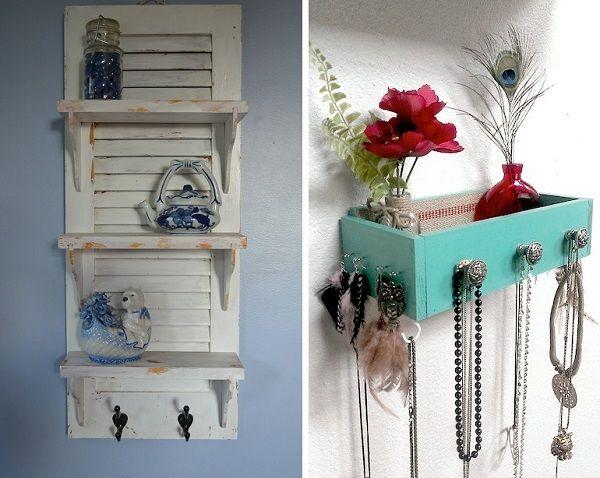 recicla partes de tus muebles viejos como las puertas o cajones