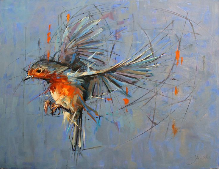 Robin . Medium - oils - 93cm by 73cm. Jamel Akib www.jamelakib.com
