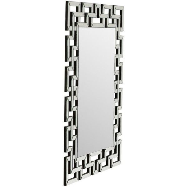 Luanne Rectangle Oversized Wall Mirror ❤ liked on Polyvore featuring home, home decor, mirrors, rectangle mirror, oversized wall mirrors, rectangular wall mirror, rectangular mirror and rectangle wall mirror