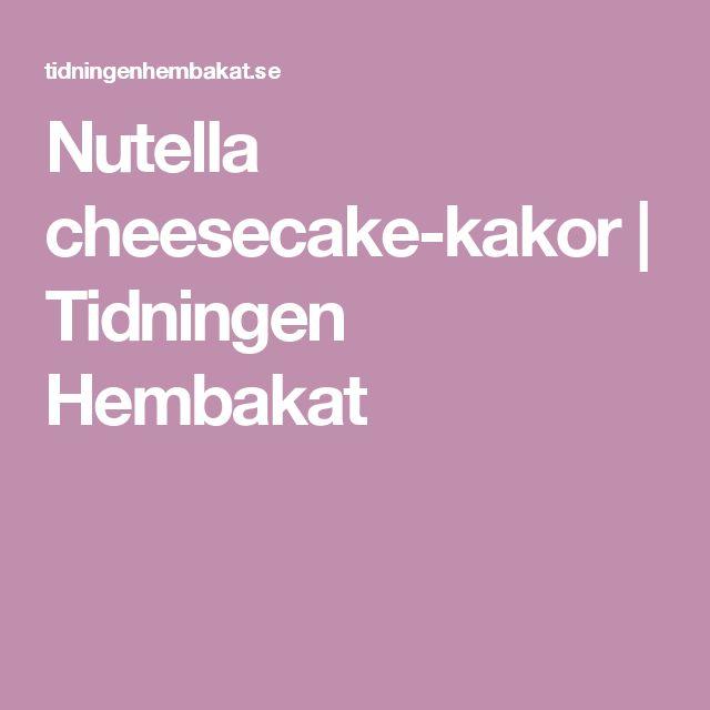 Nutella cheesecake-kakor  | Tidningen Hembakat