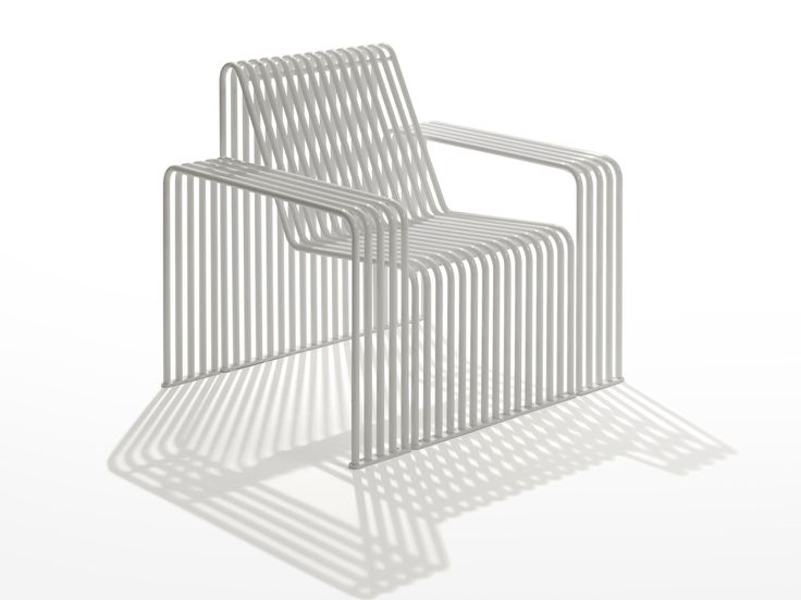 Galvanized steel garden armchair / outdoor chair ZEROQUINDICI.015 | Garden armchair - Diemmebi