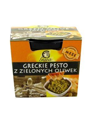 Greckie Pesto z Zielonych Oliwek  • aromatyczny sos  • z zielonych, greckich oliwek • doskonale przyprawiony • szerokie zastosowanie