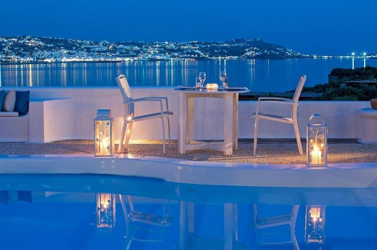 Candle Light Mykonos View!