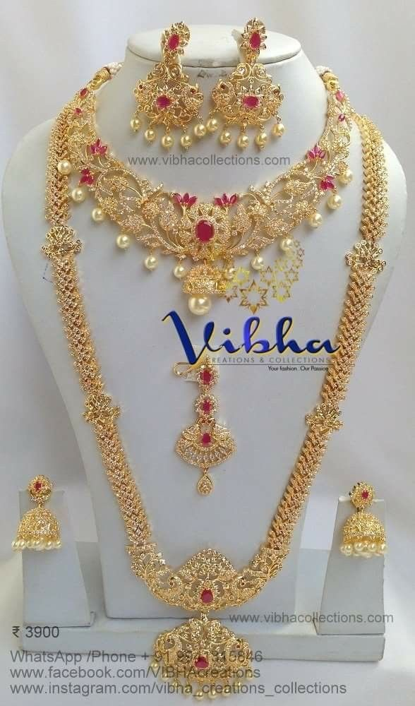 5913891a89 Pin by Vibha creations and collections on Bridal and semi bridal  collections in 2019 | Saree jewellery, Indian wedding jewelry, Jewelry