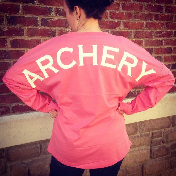 Archery T-Shirt! Show your Spirit in this Pom Pom Pullover Long Sleeve Jersey by ArcherySquad $44.99