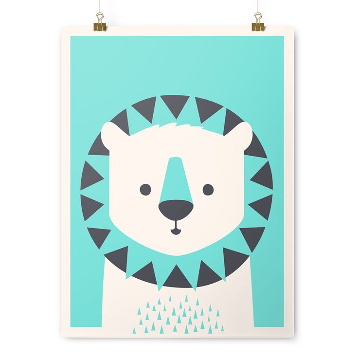 """Leo is as brave as he is kind and is one of the best lion tap dancers we've  ever had the pleasure of knowing.  Leo the Lion is screen printed by Mama's Sauce on perfectly framable,  statement making 18x24"""" French Paper in Whip Cream. He is rolled and  shipped in a hard cardboard tube, to"""