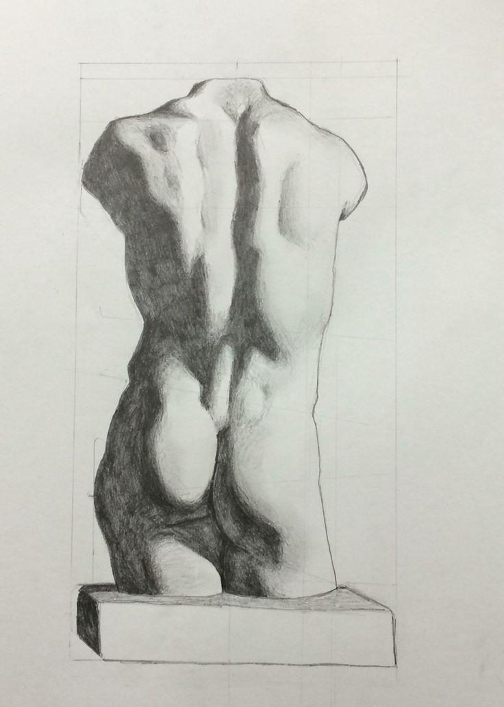 Human figure, graphite - Andrea Meyerholz