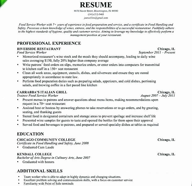 Food Service Manager Resume Elegant Food Service Manager Resume Thrifdecorblog In 2020 Manager Resume Resume Good Resume Examples
