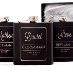 Treat your groomsman with a personalised hip flask from Giftware Direct.  Visit: https://giftwaredirect.com.au/16-hip-flask-sets