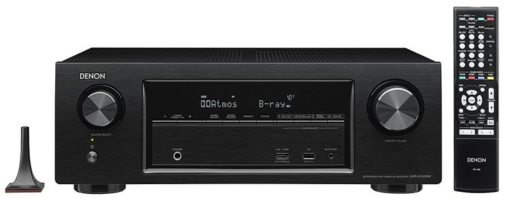 Denon AVRX1300WBKE2 7.2-Kanal AV-Receiver (Dolby Atmos, dtsX, WLAN, Bluetooth, Spotify Connect, 5 Plus 1 HDMI 3D, 4K, HDCP 2.2, 7x 145 Watt) schwarz: Amazon.de: Audio & HiFi