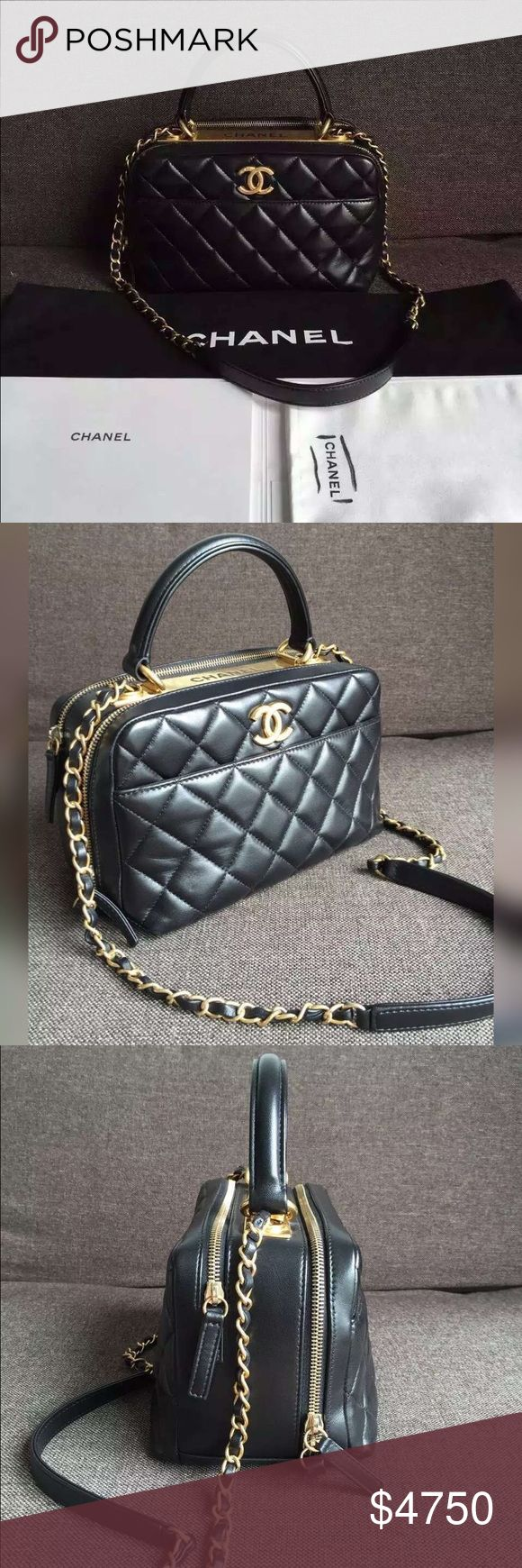 Auth NEW Chanel 2016 Bowling Bag Quilted Black GHW BRAND NEW NEVER WORN! 2016 NEWEST CHANEL RELEASE! COMES WITH FULL PACKAGE! Purchased directly from Chanel boutique on trip to Japan! 100% GUARANTEED AUTHENTIC OR 10X YOUR MONEY BACK!!  PLEASE VISIT OUR OFFICIAL ONLINE SHOP AT WWW.AUTHENTICLUXURIESTW.COM FOR MORE GORGEOUS LUXURY ITEMS AT AMAZING PRICES. PHOTOS ARE TAKEN OF THE EXACT SAME ITEM YOU WILL RECEIVE! WHAT YOU SEE IS WHAT YOU GET*** PLEASE CONTACT ME AT authenticluxuries11@gmail.com…