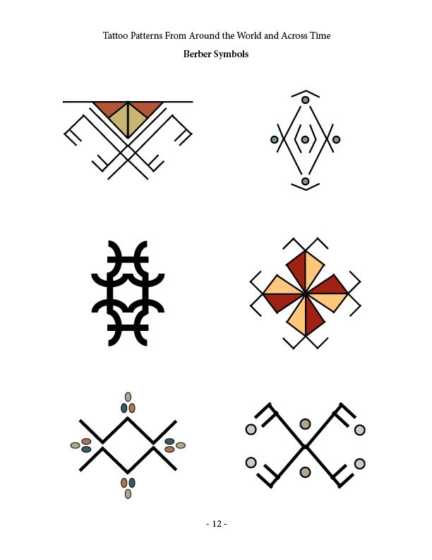 Berber Symbols Tattoos