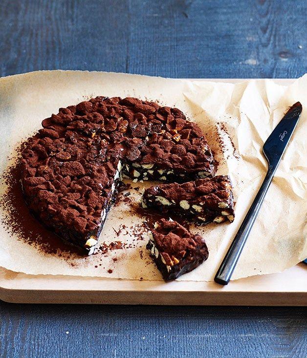 Dark-chocolate and sour-cherry panforte recipe :: Gourmet Traveller