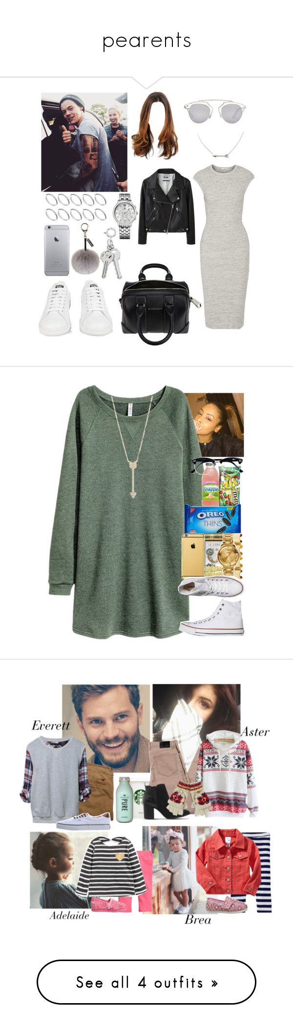 """""""pearents"""" by jade-durrant ❤ liked on Polyvore featuring James Perse, Acne Studios, adidas, Givenchy, Christian Dior, ASOS, Tommy Hilfiger, Helen Moore, H&M and Converse"""