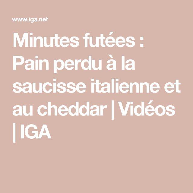 Minutes futées: Pain perdu à la saucisse italienne et au cheddar | Vidéos | IGA