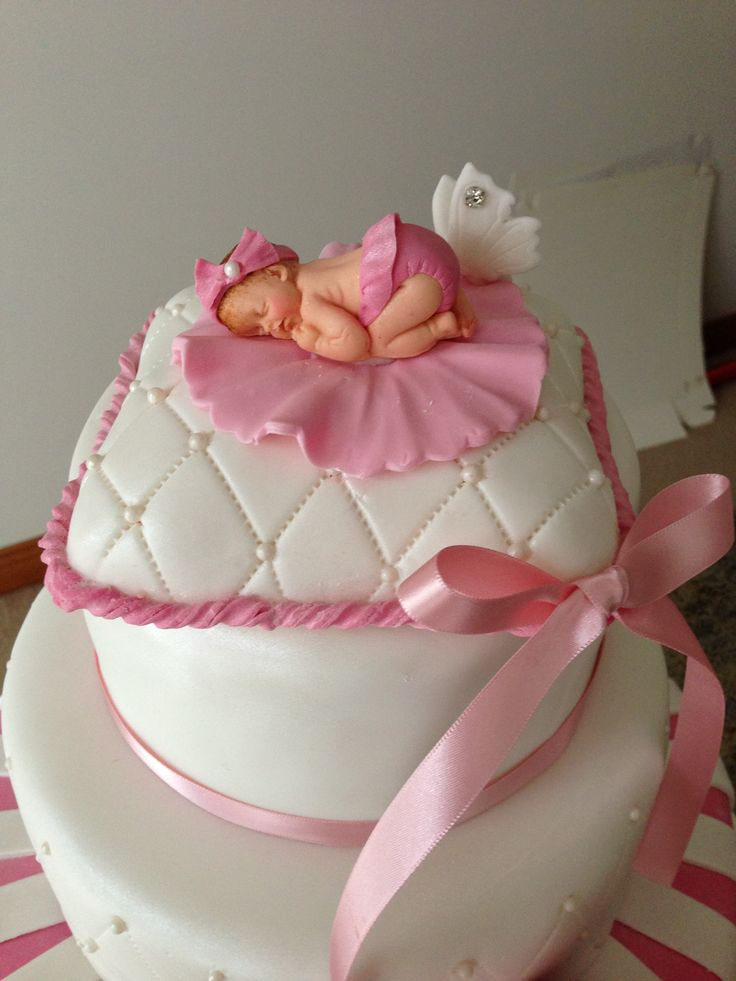 Baby cakes, Sleeping babies and Baby cake topper on Pinterest