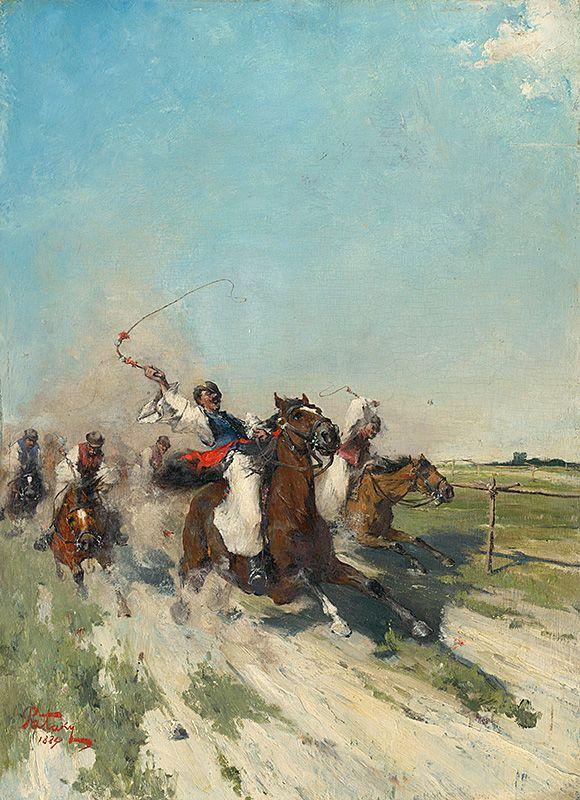 Čikóši by Ladislav Pataky, 1884. Slovak national gallery, CC BY