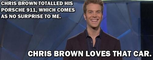 Chris Brown totaled his car... - Imgur