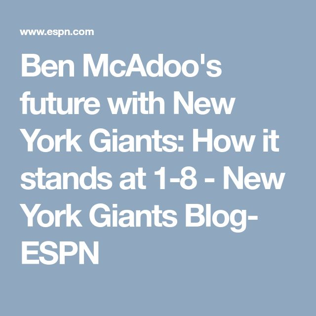 Ben McAdoo's future with New York Giants: How it stands at 1-8 - New York Giants Blog- ESPN