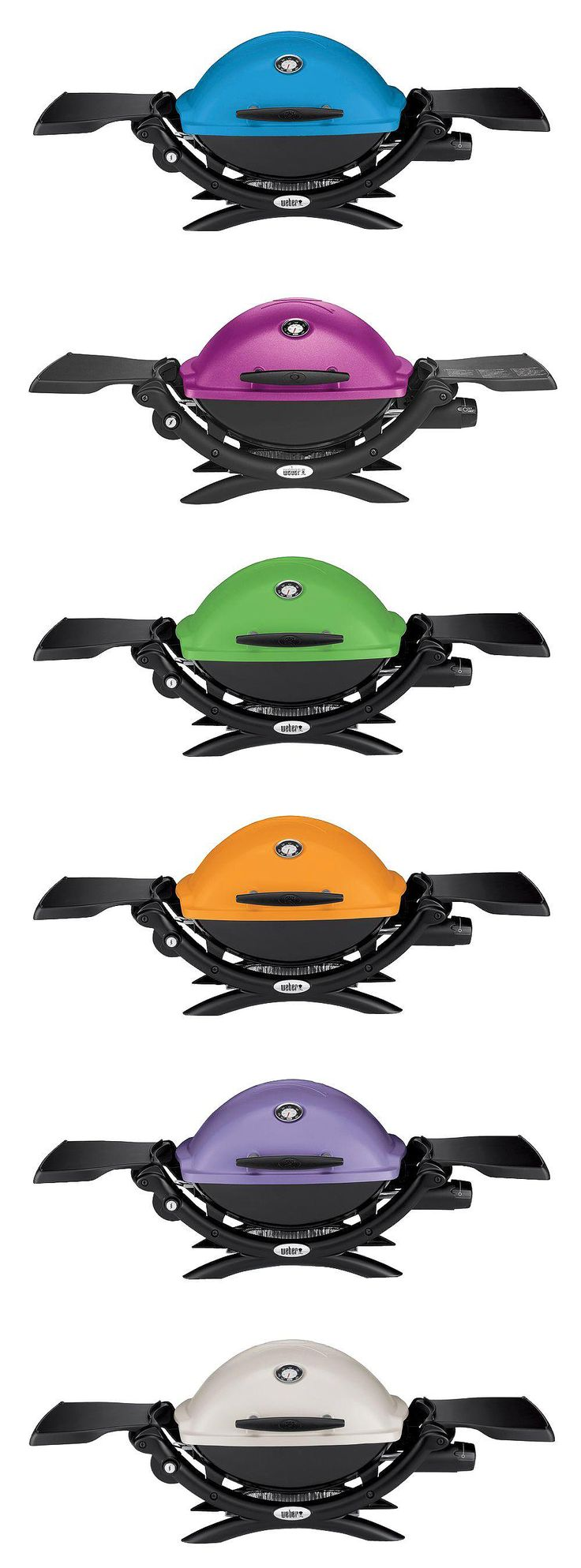 Make grilling more colorful with this portable Weber gas grill. It travels easily to the tailgating party or picnic. It collapses for easy storage when you get home. And the colors! Available in blue, fuschia (!), green, orange, purple and white. (And, yes, black, too.) You'll love this little guy.