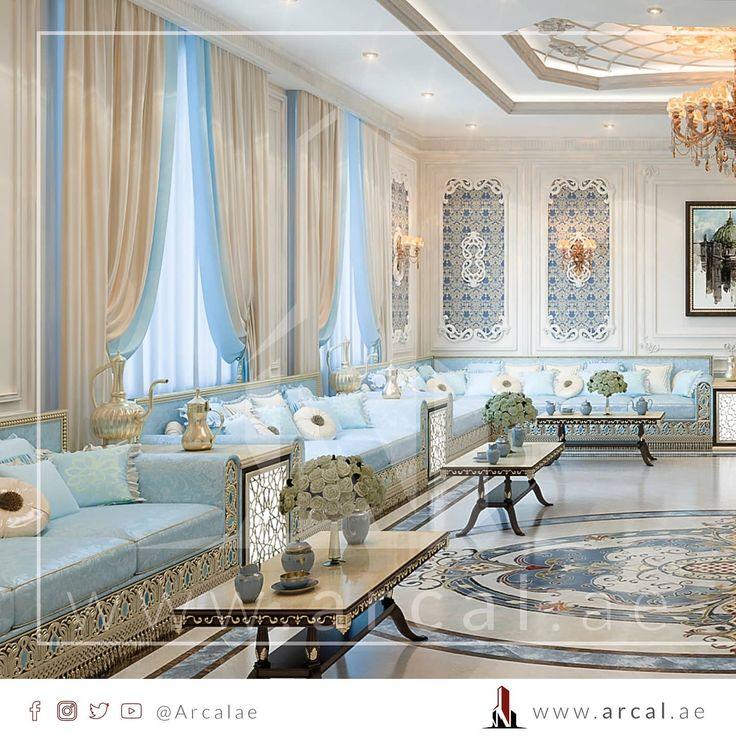 لعشاق التصميم الكلاسيكي المميز مجلس رجال يتميز بالوان الباستيل الفخمة و الإضاءة الرائعة لتعطي هذه اللوحة المميزة نسعد بتواصلكم معنا House Rooms House Room