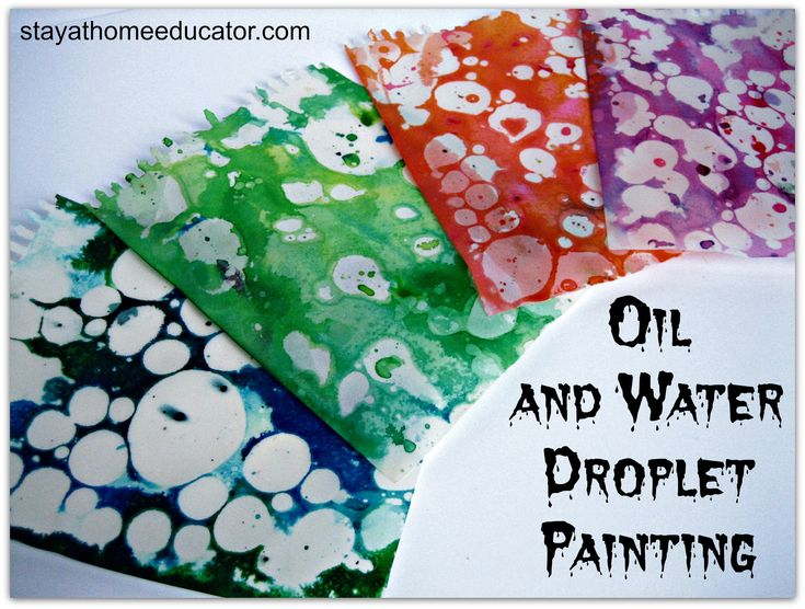 Oil and Water Droplet Painting