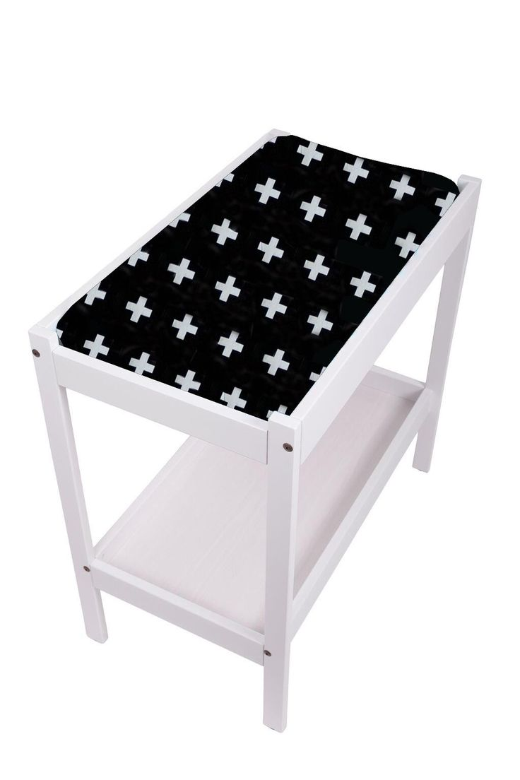 Change Table Mat Cover- Crosses Black