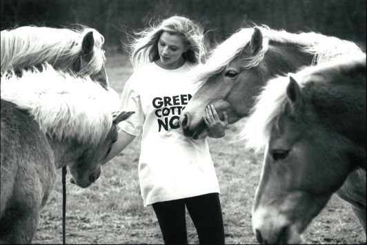 THE ORIGINAL FIRST ORGANIC COTTON T-SHIRT  GREEN COTTON 1991