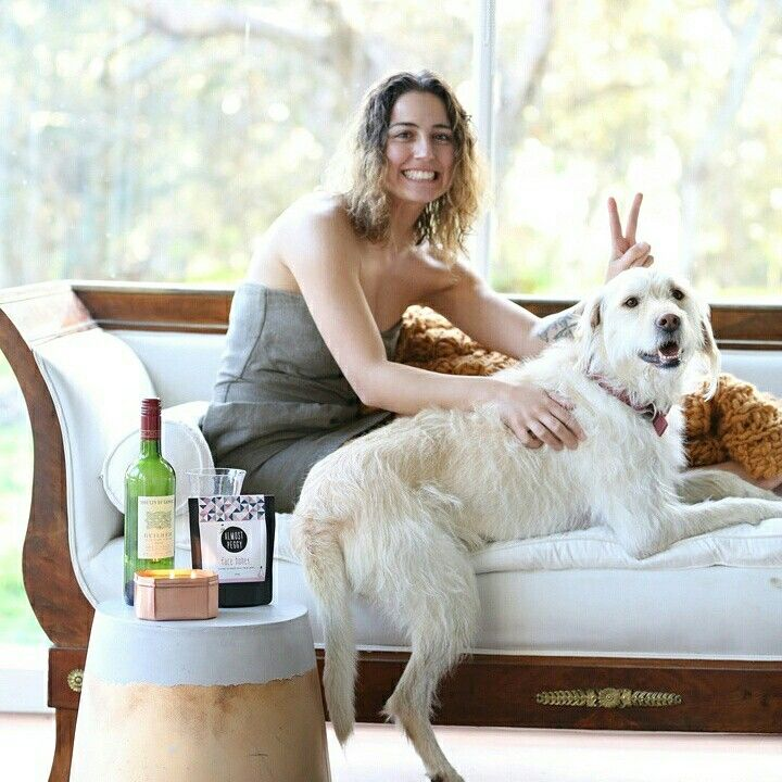 our three favourite things - wine, dogs & face honey (check face honey out at almostpeggy.com) xx