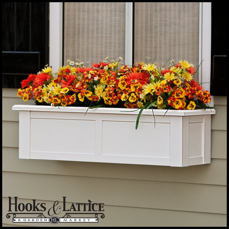 """60"""" XL Hampton Premier Window Box w/ *Easy Up* Cleat Mounting System $389.85. also comes one size larger.  brackets separate.  paintable"""