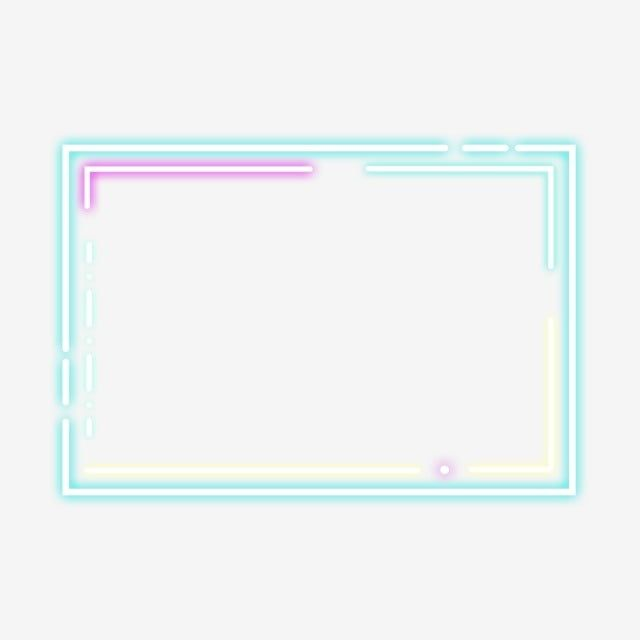 Simple And Colorful Neon Borders Are Available For Commercial Use Border Clipart Frame Neon Border Png Transparent Clipart Image And Psd File For Free Downlo Frame Border Design Frame Template Neon