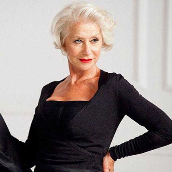 Dame Helen Mirren debuts a new do