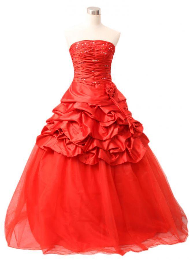 plesové šaty exklusivní červené na maturitní ples do tanečních - plesové šaty, svatební šaty, společenský salón