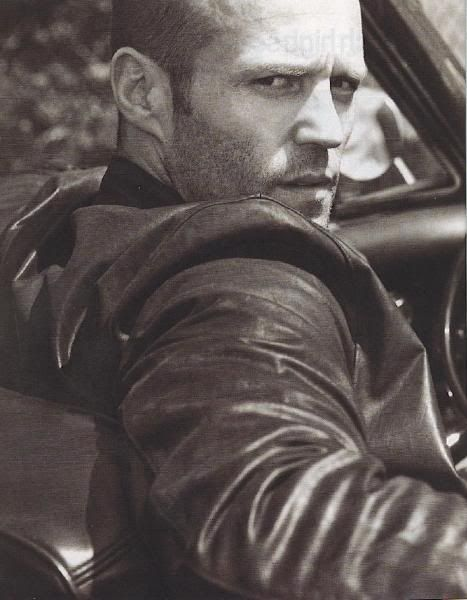 Mmmm Jason Statham looks hot in black and white!