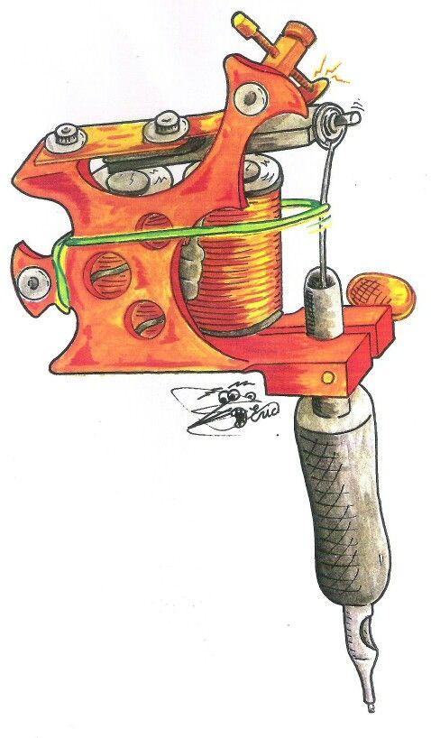 Eric Roque Berlanga, Maquina tatuar, tattoo, ilustracion, acuarela,