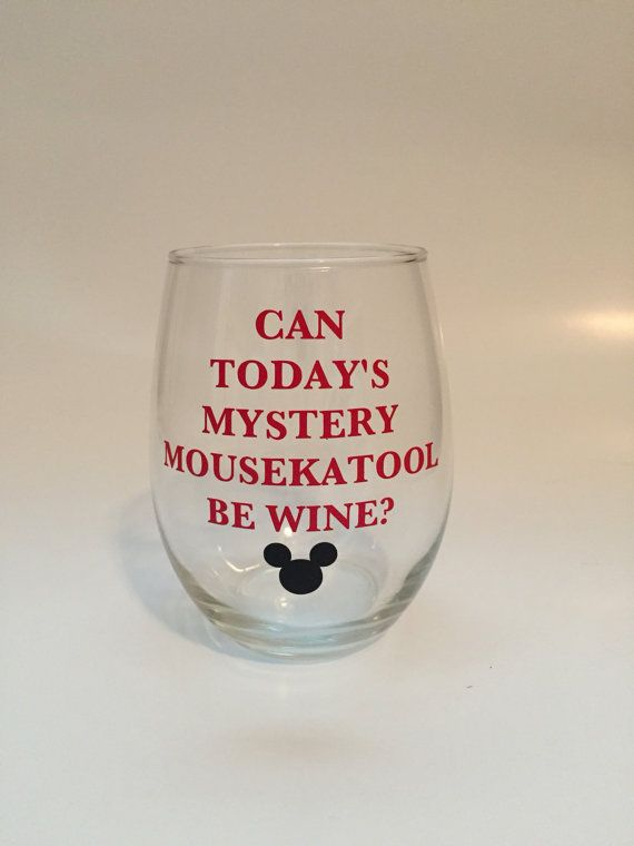 Relax and Unwind After the Holidays with This Funny Disney Wine Glass